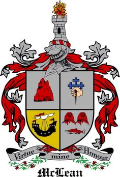 McLean family crest Scotland genealogy