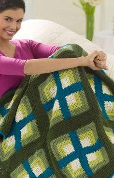 Windows Afghan Crochet Pattern