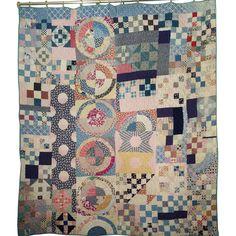 Antique Handmade Quilt Circa 1885  - Olde Sampler