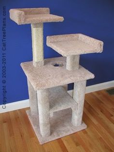 Cat towers and toys on pinterest cat towers cat toys for Cat tree blueprints