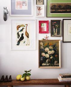 Gallery wall vignette // Hallie Burton Photography