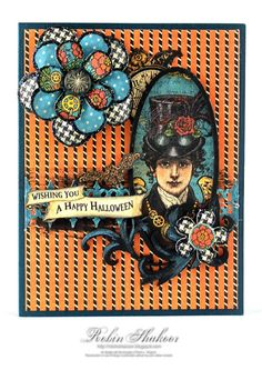 Good Fortune Card with Graphic 45 Steam Punk paper