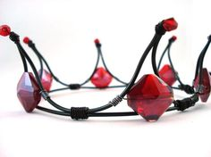 gothic wedding bridal crown. Love it I would change the color to black and purple