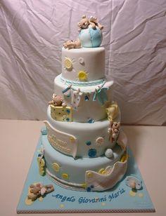 baby shower cakes, seas, teddi bear, angel baby cake, teddy bears, angels, babi shower, bear cake, baby showers