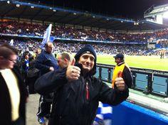 Pietro at Chelsea vs. Genk Champions League football