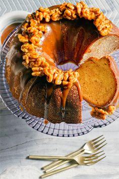 Cinnamon Swirl Bundt Cake with Coffee-Caramel Sauce from www.aidamollenkamp.com