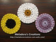 Bean Stitch Coasters - Crochet Tutorial - YouTube