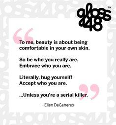 hehe. Oh Ellen! #glossygram