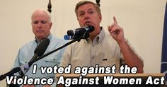 Senator Graham prefers a different approach: arming women and families with automatic weapons.