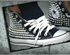 Studded Converse: Grab a pair of gloves and DIY.