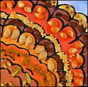 Nuts About Turkey  - Take any turkey ditto and add a little pazazz to it with seed, nuts & beans.  Make sure to print ditto on cardstock to support the weight of the seeds.
