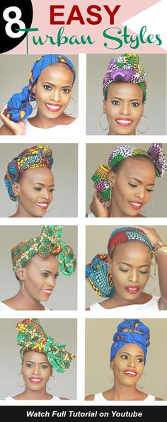 Looking for some new head wrap ideas? Click to check out my detailed diy head wrap tutorial on how to use headwraps as a protective style for natural hair. This head wrap tutorial will show you how to do 8-10 different head wrap hairstyles to use a head scarf on a bad hair day or even a protective style for your natural hair and also great for your twa natural hair. All head warps are African print inspired and will help you stand to make a bold statement