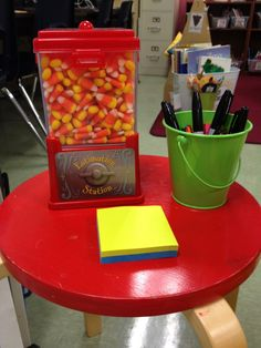 estimation station - love it - it will work perfectly with the candy dispenser I have in my classroom