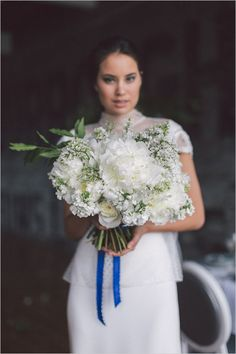 Black, white, and blue very chic wedding ideas. #weddingchicks Captured By: Purple Tree Photography http://www.weddingchicks.com/2014/09/01/blue-chic-wedding-ideas/