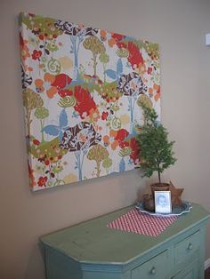 easy fabric wall art