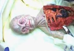 Russian Alien Autopsy  Back in 1969, the Russian KGB rescued a UFO shot down probably by their fighters. In this small ship several small humanoids were found.  The photos and the video below are alleged the be from the autopsy of a tiny alien.