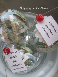 "Chipping with Charm: Sharing the ""LOVE""...with globes"
