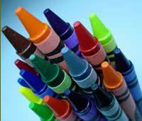 classroom, crayon crafts, children, spring craft, crayons