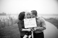 adorable baby announcement for second child.