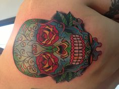 Day of the dead skull by Tegan Beyer