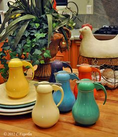 Vintage Fiesta Syrup Pitchers
