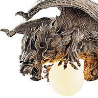 Nightfall Gargoyle Chandelier decor, gothic home, chandeliers, dragon, nightfal sculptur, gargoyl chandeli, light, design toscano, sculptur gargoyl