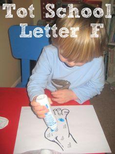 Tot School Printables Letter F is for Foot from Wildflower Ramblings #totschool