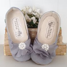 Baby Girl Shoes Toddler Girl Shoes Soft Sole Shoes Wedding Shoes Flower Girl Shoes Infant Shoes Grey Shoes Spring Shoes Summer Shoes Estella...