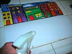 washable marker --fold paper