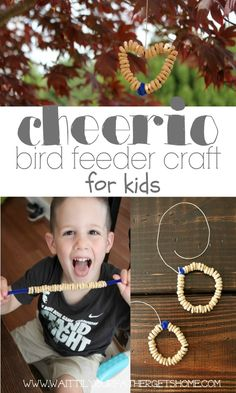 Make an easy Cheerio Bird Feeder with your little one this summer to keep their fingers occupied and make some birds happy via Wait Til Your...