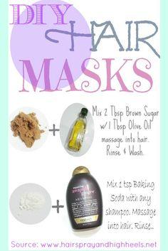 Homemade Hair Mask: At Home Beauty Tuesday  via @Andrea #diy #beauty #beautytips