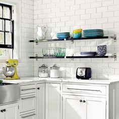 I wouldn't mind a few shelves for my pyrex. Photo: Susan Gilmore   thisoldhouse.com   from 28 Thrifty Ways to Customize Your Kitchen