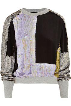 3.1 Phillip Lim   Sequined silk sweatshirt   NET-A-PORTER.COM
