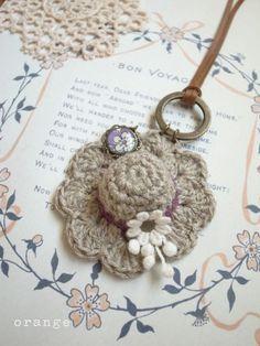 Crochet mini hat necklace