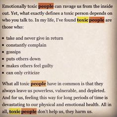 Rid yourself of toxic friends.