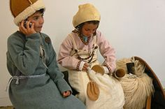Children dressed in Viking clothing