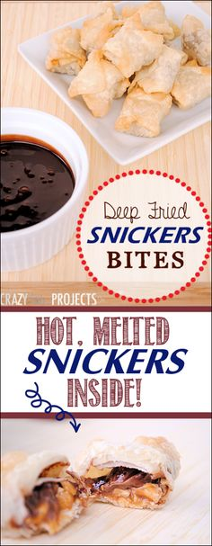 Deep Fried Snickers Bites: Hot and gooey inside! These things are unbelievable! #chocolate