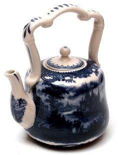 ✿ڿڰۣ(̆̃̃•Aussiegirl Blue and white porcelain teapot