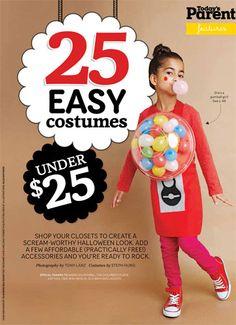 25 Easy Costumes Under $25 Love the bubble gum machine