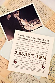 Ranch Style Wedding Invitation