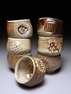 Mark Peters (Pine Root Pottery)     salt-fired teabowls.