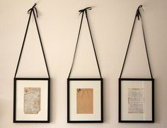 handwritten recipes framed. lovely for kitchen. Would love to do this with my grandmother's