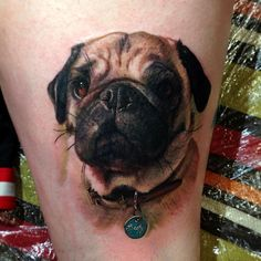 This is an awesome dog tattoo!!! So realistic and soooo cute!!!