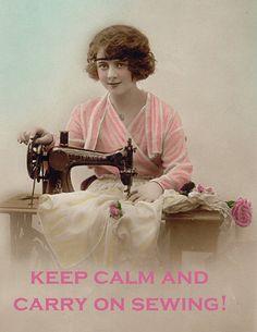 Vintage Sewing Ladies Greeting Cards Pack of 6 by CollageGypsy, £12.00