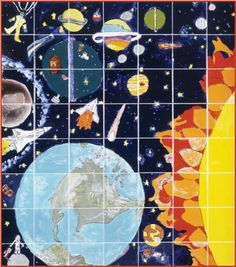 Teach students important fundamentals of science, social studies and geography through art  with our Lesson #1: Ceramic Tile Wall Murals  #teachers #educations #ceramics #arts #students #learning #playinclay #space #science