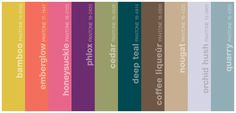 The fall color pallet fashion trends put out by Pantone (winter 2011).