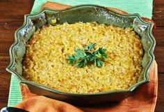 Sweet Corn Casserole- really delicious and it's easy peasy to make! Great side for Thanksgiving!