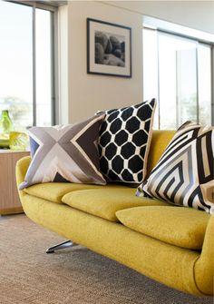 Trina Turk Building Pillow - Charcoal Grey