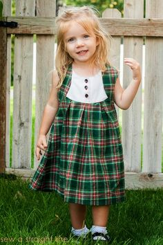 plaid fawn lilly dress // Sew a Straight Line