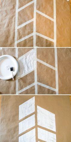 DIY: kraft paper table runner